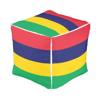 Mauritius Flag Pouf