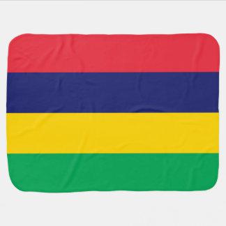 Mauritius Flag Receiving Blankets