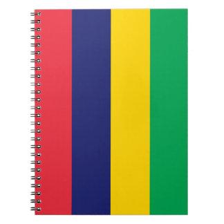 Mauritius Flag Spiral Notebook