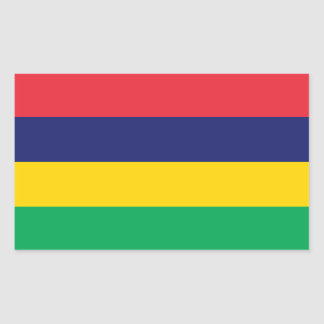 Mauritius Flag Sticker