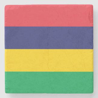 Mauritius Flag Stone Coaster