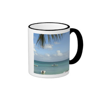 Mauritius, Grand Baie. Boats anchored in the Ringer Coffee Mug