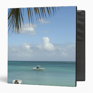 Mauritius, Grand Baie. Boats anchored in the Vinyl Binder