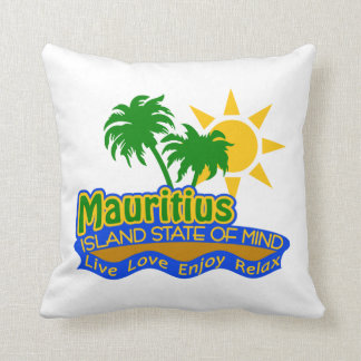 Mauritius Island State of Mind pillow