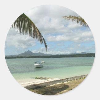 Mauritius Paradise Classic Round Sticker