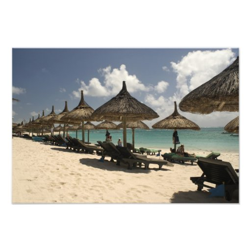 Mauritius, Poste de Flacq. Beach scene at the Photo Art