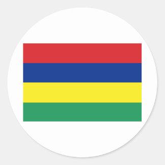 Mauritius Round Sticker