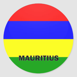 Mauritius Roundel quality Flag Classic Round Sticker
