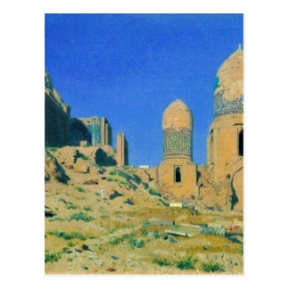 Mausoleum of Shah-i-Zinda in Samarkand by Vasily Postcard