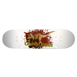 Mauvais Carnotaurus éclaboussant le vert et le Skateboard 19,7 Cm