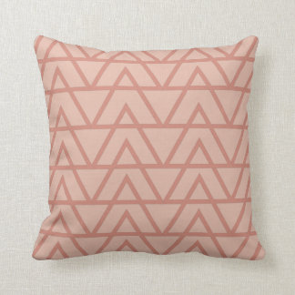 Mauve and Pink Zig Zag tribal inspired print Throw Pillow