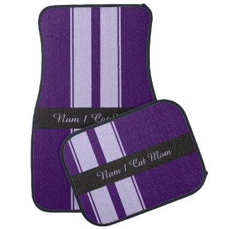 Mauve and purple racing stripes floor mat
