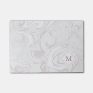 Mauve and White Marble look with Diamond Monogram Post-it® Notes