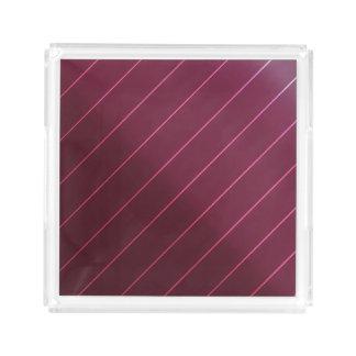 Mauve Berry Wine Diagonal Pin Stripe Perfume Make Acrylic Tray