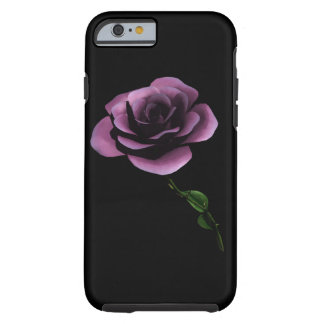MAUVE  BLACK ROSE iPHONE 6 BARELY THERE Tough iPhone 6 Case