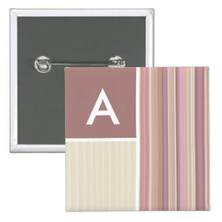 Mauve, Brown, & Green Stripes; Striped Pin