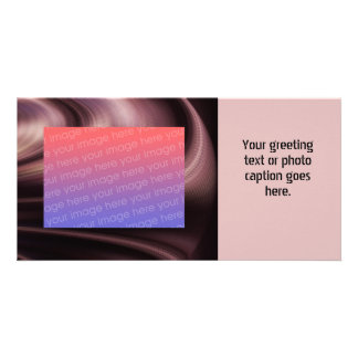Mauve Brown Swirl Abstract Photo Card Template