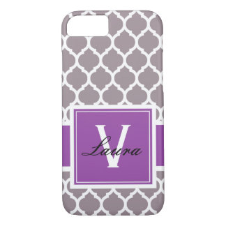 Mauve Chic Phone Case with Initials