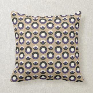 Mauve Circle Throw Pillow