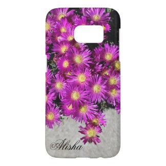 Mauve colour ice plant flowers samsung galaxy s7 case