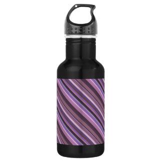Mauve diagonal stripes 532 ml water bottle