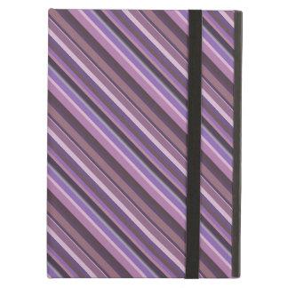 Mauve diagonal stripes iPad air case