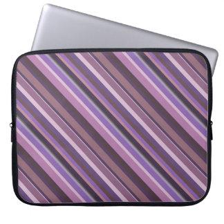 Mauve diagonal stripes laptop sleeve