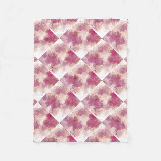 Mauve Dusk Abstract Art Design Fleece Blanket
