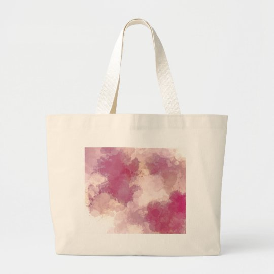 Mauve Dusk Abstract Art Design Large Tote Bag