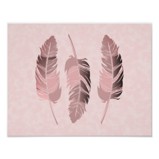 Mauve Feathers Poster