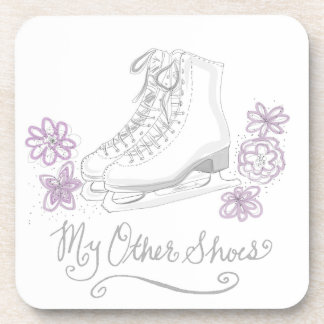 Mauve Figure Skate Custom Gift for Figure Skater Coaster