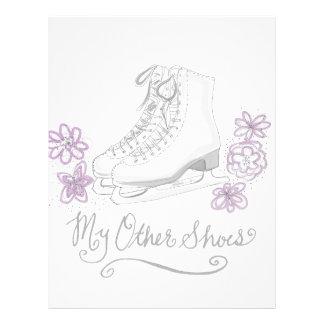 Mauve Figure Skate Custom Gift for Figure Skater Custom Letterhead