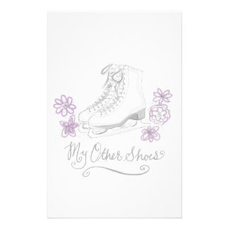 Mauve Figure Skate Custom Gift for Figure Skater Custom Stationery