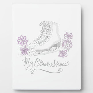Mauve Figure Skate Custom Gift for Figure Skater Display Plaque