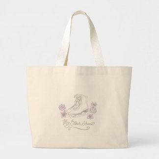 Mauve Figure Skate Custom Gift for Figure Skater Large Tote Bag