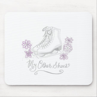 Mauve Figure Skate Custom Gift for Figure Skater Mouse Pad