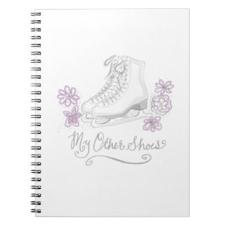Mauve Figure Skate Custom Gift for Figure Skater Notebook