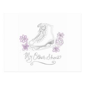 Mauve Figure Skate Custom Gift for Figure Skater Postcard