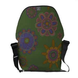 Mauve & Gold Flowers Commuter Bag