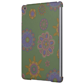 Mauve & Gold Flowers Cover For iPad Air