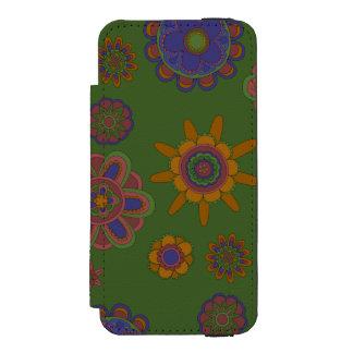 Mauve & Gold Flowers Incipio Watson™ iPhone 5 Wallet Case