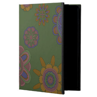Mauve & Gold Flowers iPad Air Covers