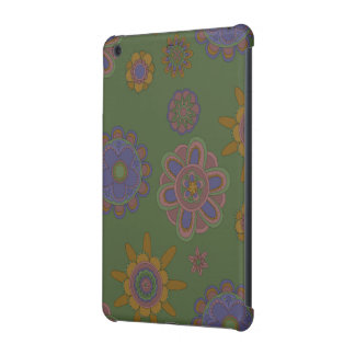 Mauve & Gold Flowers iPad Mini Cases