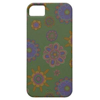 Mauve & Gold Flowers iPhone 5 Case
