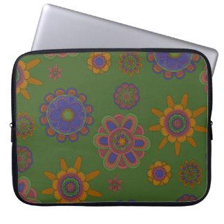 Mauve & Gold Flowers Laptop Sleeve