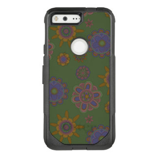 Mauve & Gold Flowers OtterBox Commuter Google Pixel Case