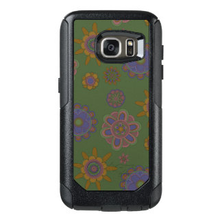 Mauve & Gold Flowers OtterBox Samsung Galaxy S7 Case