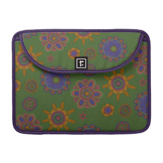 Mauve & Gold Flowers Sleeve For MacBook Pro