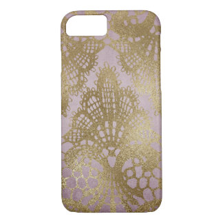 Mauve Gold Lace Bodacious Line Phone Case