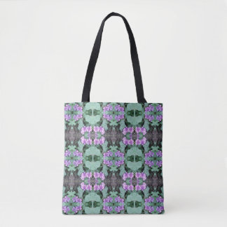 Mauve Ground Flower Fractal 1 smaller Tote Bag